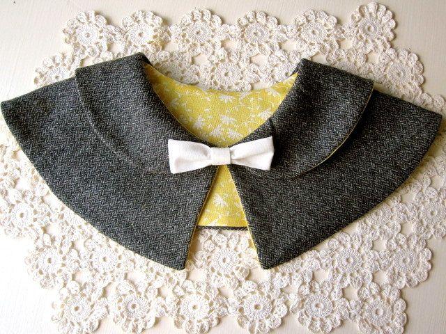 Women's Caplet Double Peter Pan Collar PDF PATTERN - Detachable Bow. $6.50, via Etsy.