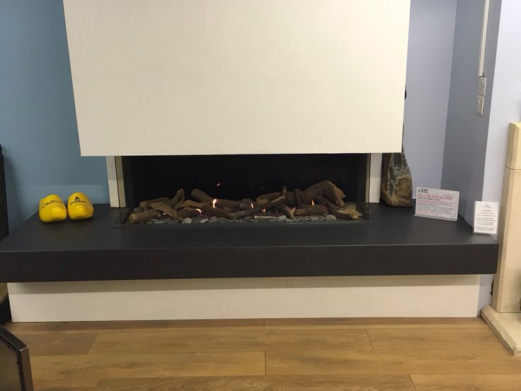 Viewbell gas fire with floating Lapitec hearth and 'invisible' front glass...amazing!!!