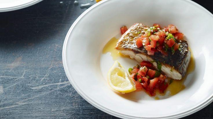 Paleo pan-fried fish with pico de gallo recipe
