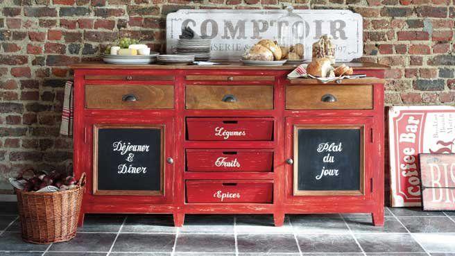 une d co de style campagne dans la cuisine cuisine d co et sucr doux. Black Bedroom Furniture Sets. Home Design Ideas