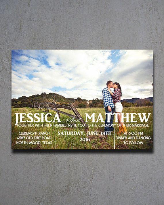 Photo Wedding Invitations - Photo Wedding Invites - Picture Wedding Invitations…