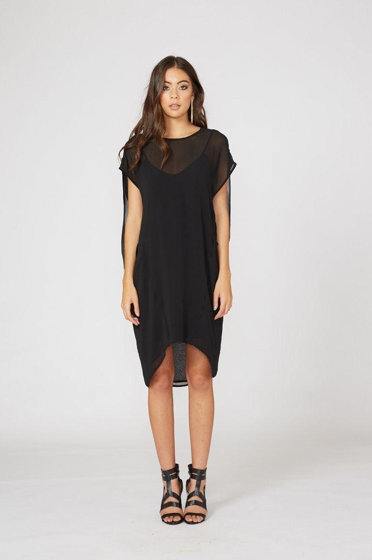 subtract dress / black   moochi
