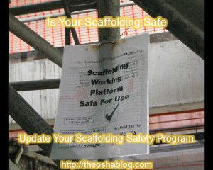 Sample Scaffolding Safety Program - Sample Scaffolding Safety Program - Scaffolding is used in almost every industry. Be it in construction or genral industry there are times that scaffoling needs to be used to get a job done safely. To be prepar