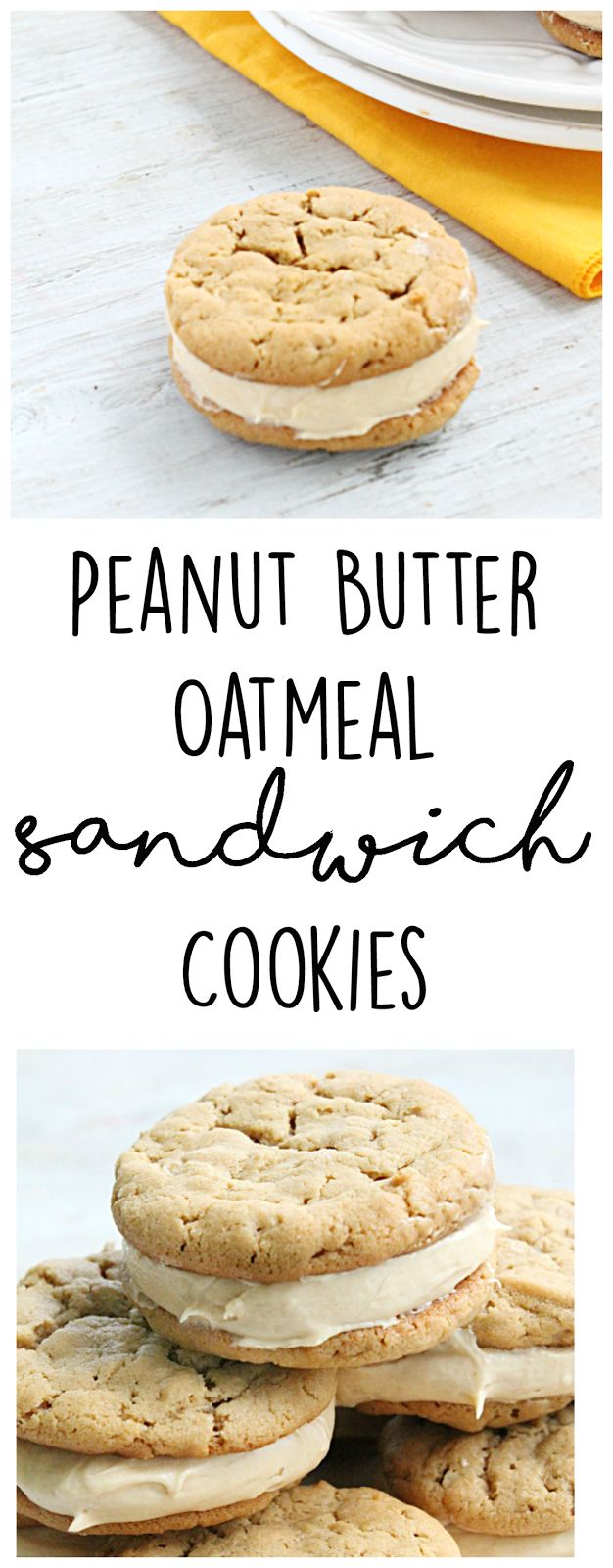 Peanut Butter Oatmeal Sandwich Cookies • Table for Seven