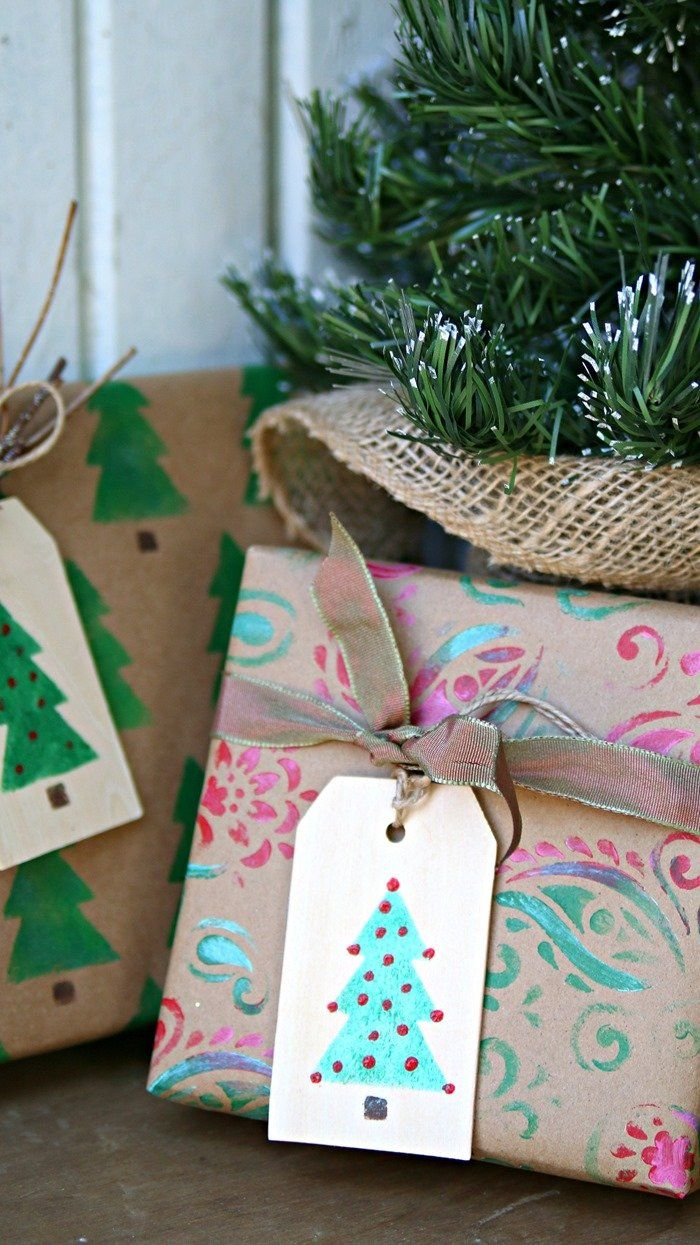 DIY Holiday Gift Tags And Wrapping Paper