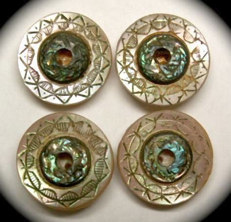 Two Tone Mother of Pearl Buttons