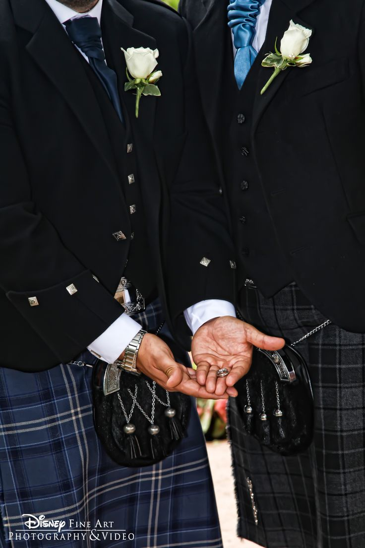 It takes a true man to rock a kilt #Disney #wedding #groom #kilt