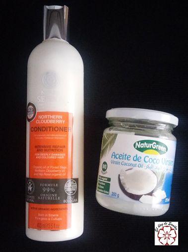 Comprando aceite de coco y un buen acondicionador