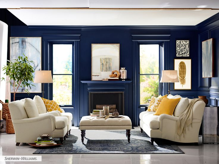 Wall Color Is Sherwin Williams Naval  Pottery Barn/Sherwin Williams Colors.