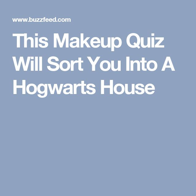 This Makeup Quiz Will Sort You Into A Hogwarts House