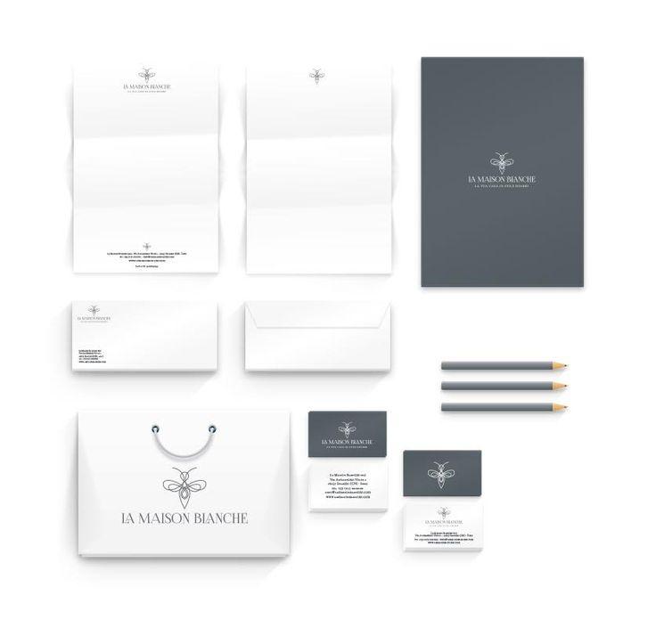 Cliente: LA MAISON BLANCHE Logo e Immagine Coordinata #playadv #brandimage #logo