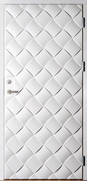 Ekstrands ytterdörr Braid 180 i vit kulör. Braid 180 finns nu även i kulör. Modellen Braid 180 är en exklusiv ytterdörr som passar både klassisk och modern minimalistisk arkitektur. Framtagen i ett samarbete mellan Ekstrands och White arkitekter. #Ekstrands #WhiteArkitekter #design #dörr #ytterdörr