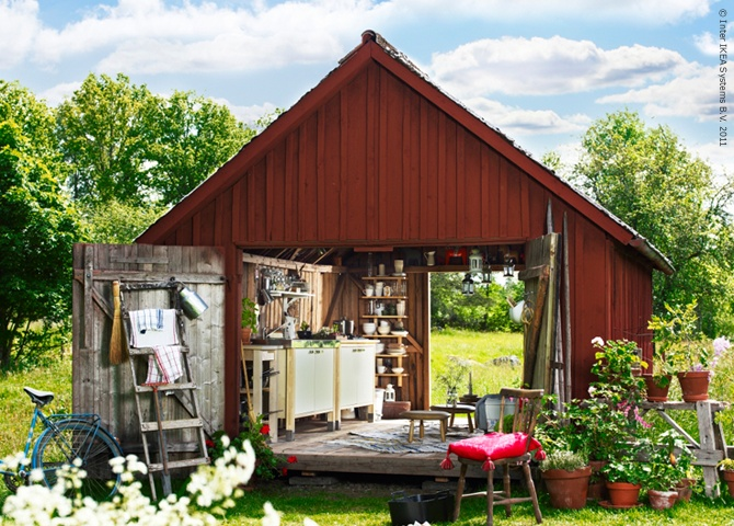 1000 images about outdoor canning kitchen on pinterest for Outdoor kitchen shed