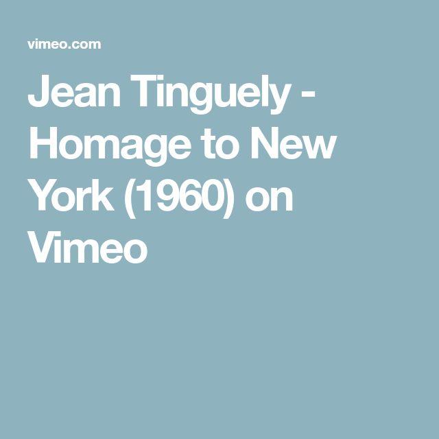 Jean Tinguely - Homage to New York (1960) on Vimeo