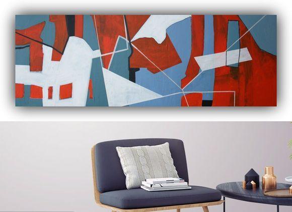 ABSTRACT #1 - MEDITERRANEAN WALK  large canvas