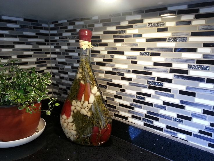 Detalle del mosaico que hice para mi cocina