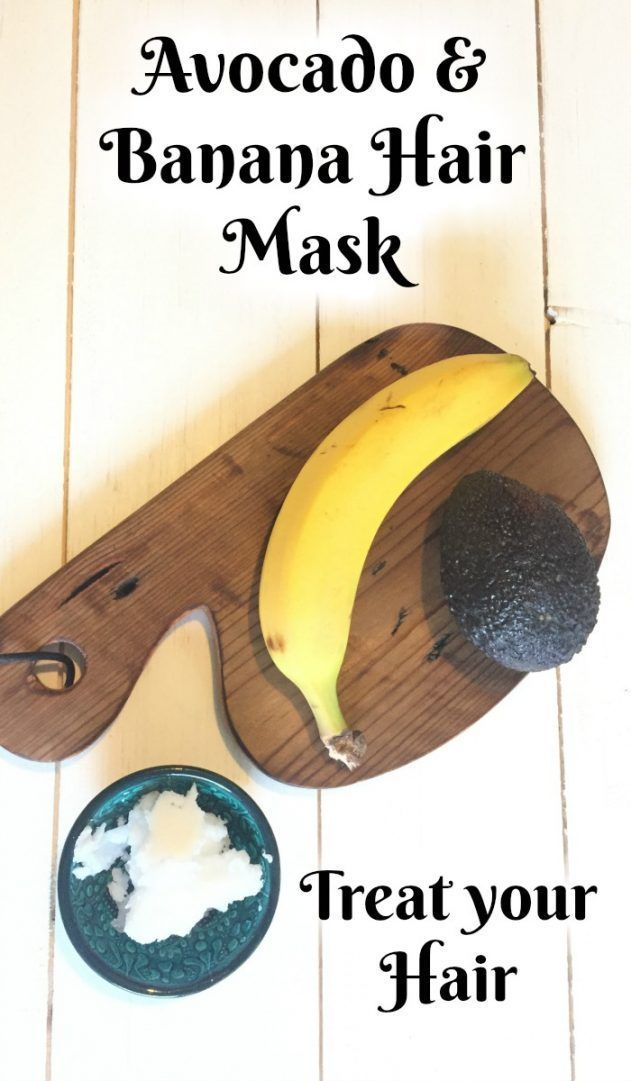 Avocado and Banana Hair mask. Moisturise and nourish your hair with just three ingredients.