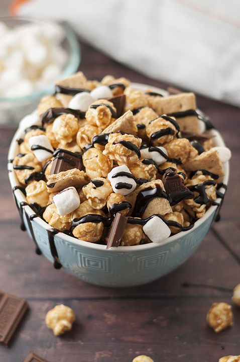 Caramel S'mores Popcorn!