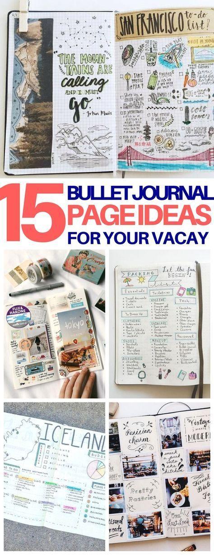 15 Creative Travel Bullet Journal Ideas for the Wanderlust Sarah DIY und Kunsthandwerk