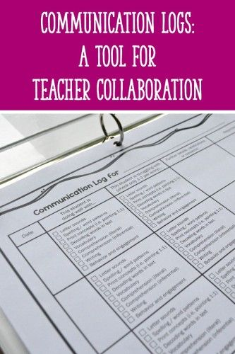 Use these communication logs to collaborate with other teachers and help struggling students succeed! These FREE downloads are great for communicating with aides, ESL teachers, and other support staff.