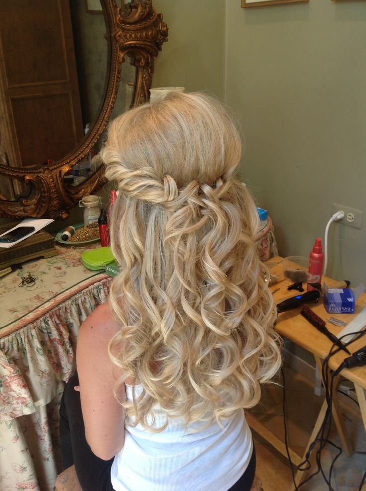 Wedding Hair Loose Curls Ashley Dean Sadler Hair Studio