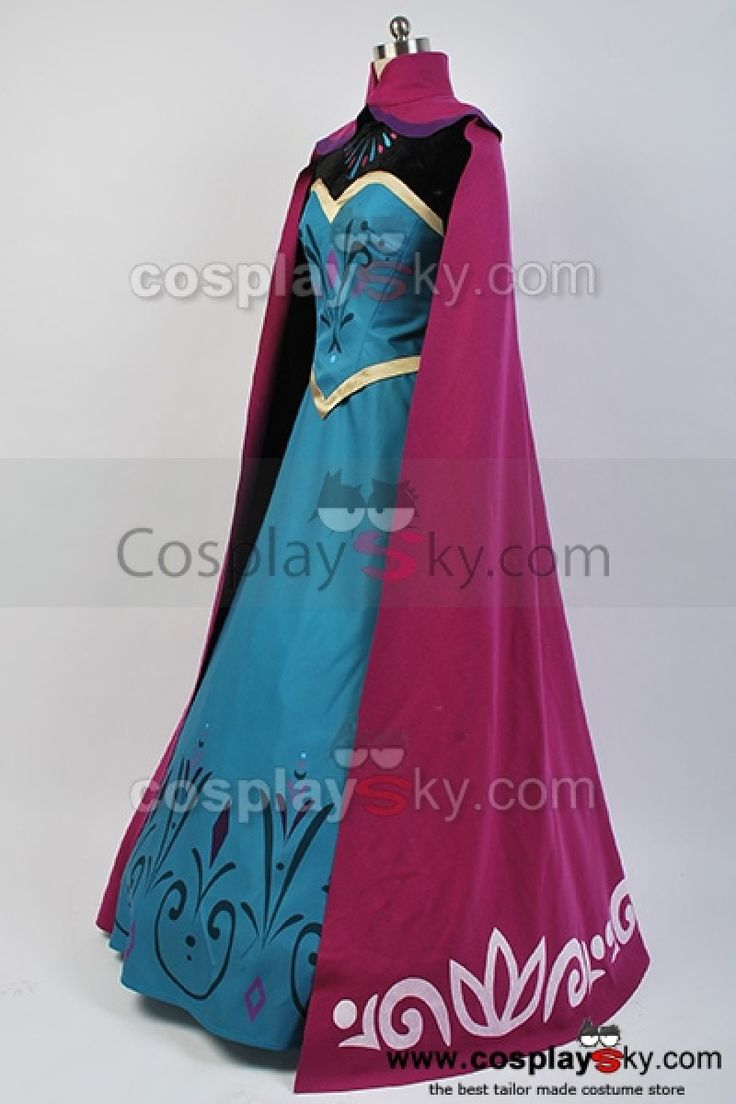 Disney-Movie-Frozen-Elsa-Coronation-Dress-Costume-Cosplay-1