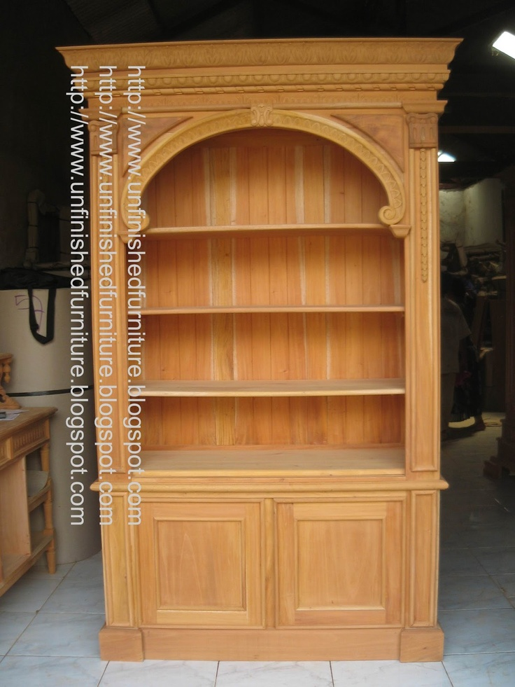 Mahogany Wood Bookcases ~ Best images about unfinished mahogany furniture on