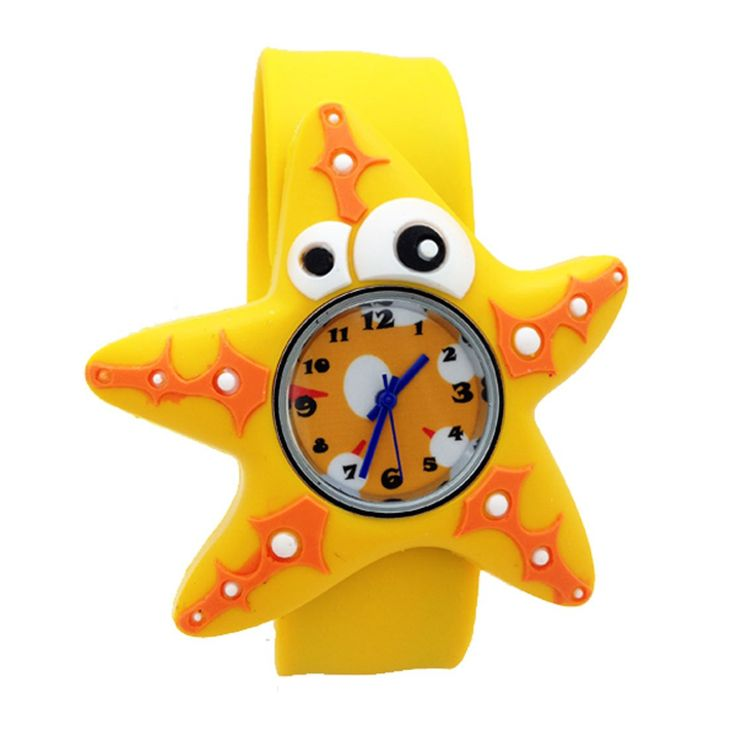 Cartoon Starfish Unisex Kids Watch Water-resistant Sports Watch Bendable Rubber Strap Wrist Watch. 100% Brand New and High Quality!. Silicone material. Pointer Random Color. Size: one size fits most. Cartoon design is lovely,It is a great gift for Kids or Adults or Teens.