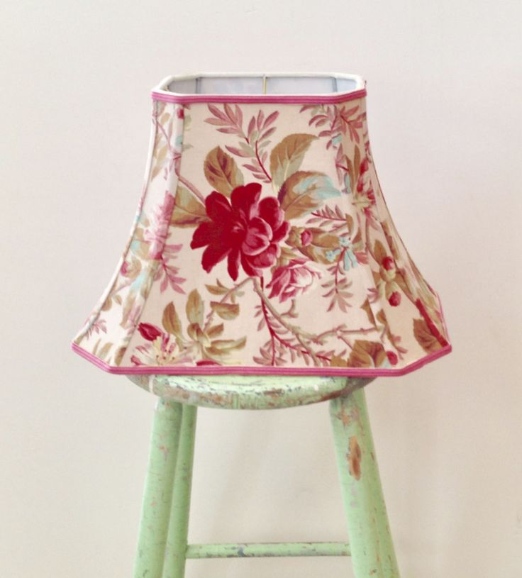 440 best lampshades images on pinterest lamp shades lampshades rectangle bell lamp shade french floral lampshade to die for vintage fabric only one aloadofball Choice Image
