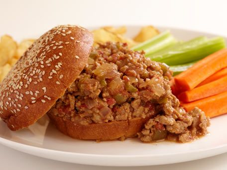 Weight Watchers Turkey Sloppy Joes ..i used 3/4 cup sweet baby rays ...