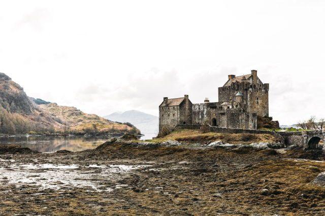 Eilean Donna Castle in the western Highlands of Scotland.