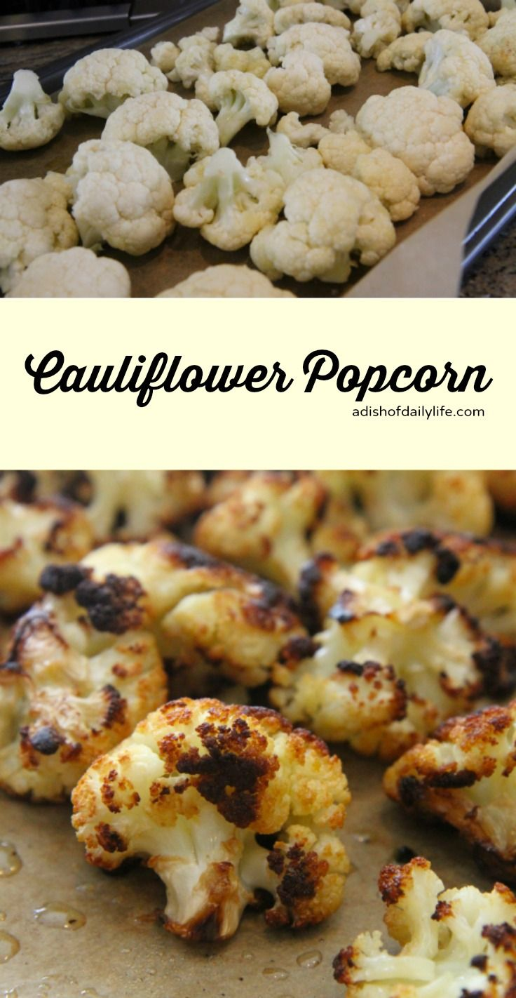Cauliflower Popcorn, roasted cauliflower that's so good, you won't want to share! #glutenfree #vegetarian
