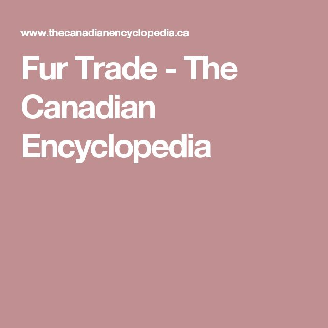 an introduction to the canadian fur trade As it was the fur trade that provided the impetus for canada's western expansion   trade formed the base of the earliest introduction between the inhabitants of.