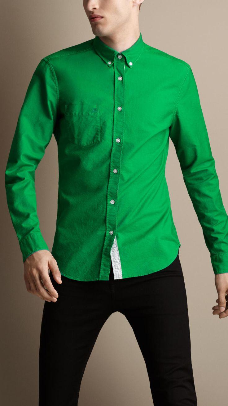 Emerald Green Long Sleeve Dress Shirt