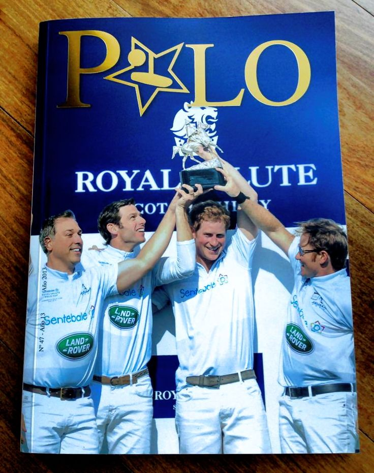 Portada Revista Polo #47, Junio 2013 . Prince Harry en Sentebal Royal Salute Polo Cup.  #magazine #polo #revista #principe #chile #cover