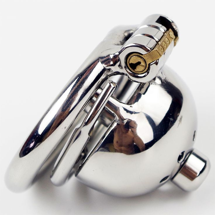 Spiked ring Anti off Short Chastity Cage with New Lock and removable Urethral Sound Steel Locking Chastity Device for Men