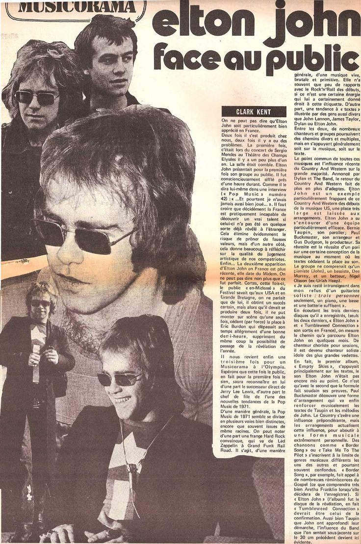 ELTON JOHN 45 tours discography french pressings 7""