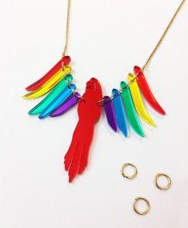 Parakeet Necklace Workshop - Rainbow // £50