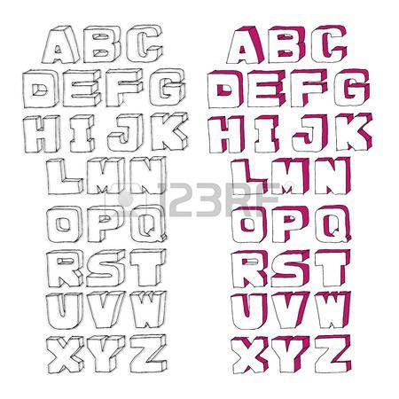 Moderne Vector Aquarelle Alphabet. ABC lettres peintes. Moderne Lettrage bross�. Peinte Alphabet photo