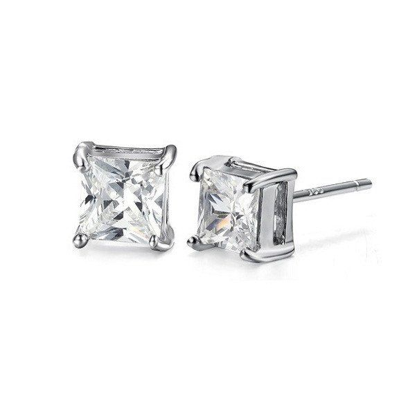 Clear Diamond Stud Earrings