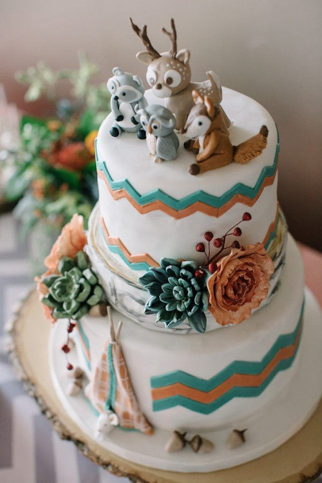 Love this glamping-themed cake.