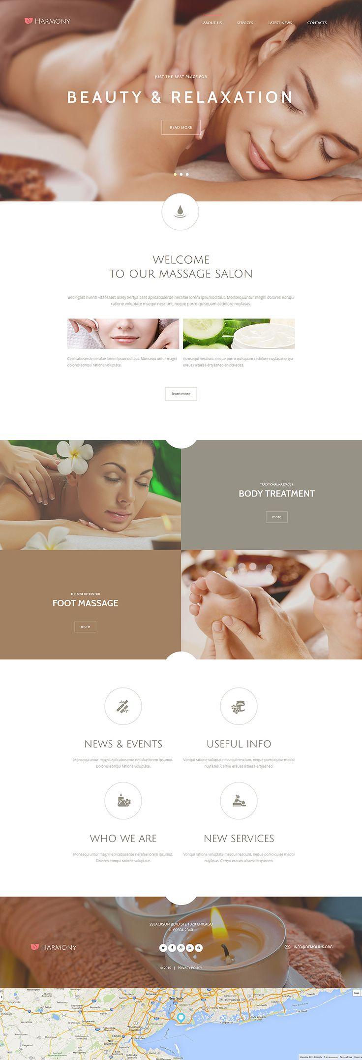 Harmony Joomla Template Spa BrochureSpa WebsiteWebsite