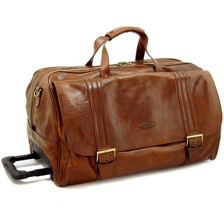 Wheeled leather luggage luggage luxury luggage concepts pinterest wheels for Leather luggage wheeled duffel