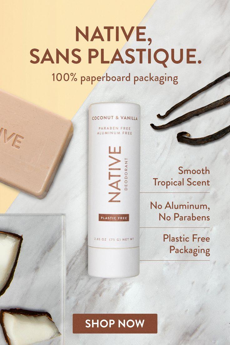 Plastic Free Coconut & Vanilla Deodorant Native in 2020