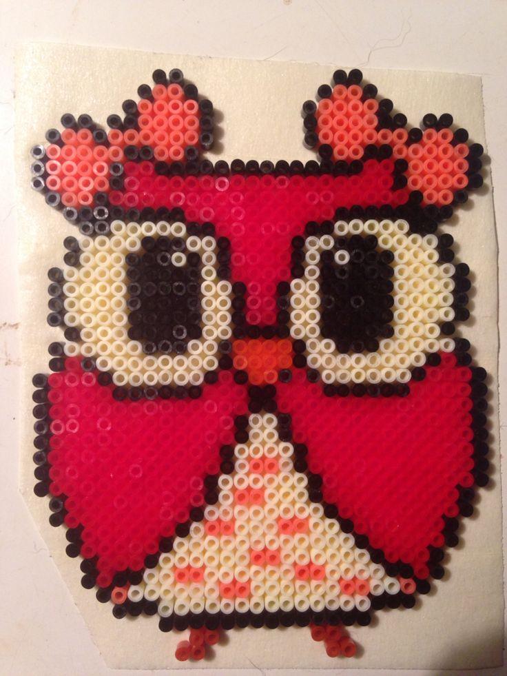 Owl hama mini perler beads