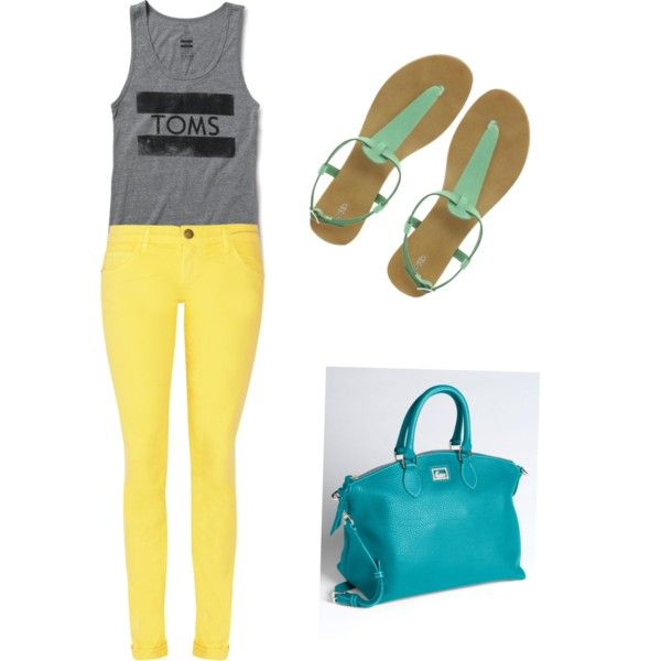 summer, created by madisonfarr on Polyvore: Clothing Obsess, Color Blocks, Fashion Passionate, Toms Shirts, Color Shoes, Longer Shirts, Fashion Mi Styles, Things Toms, Clothing Styles