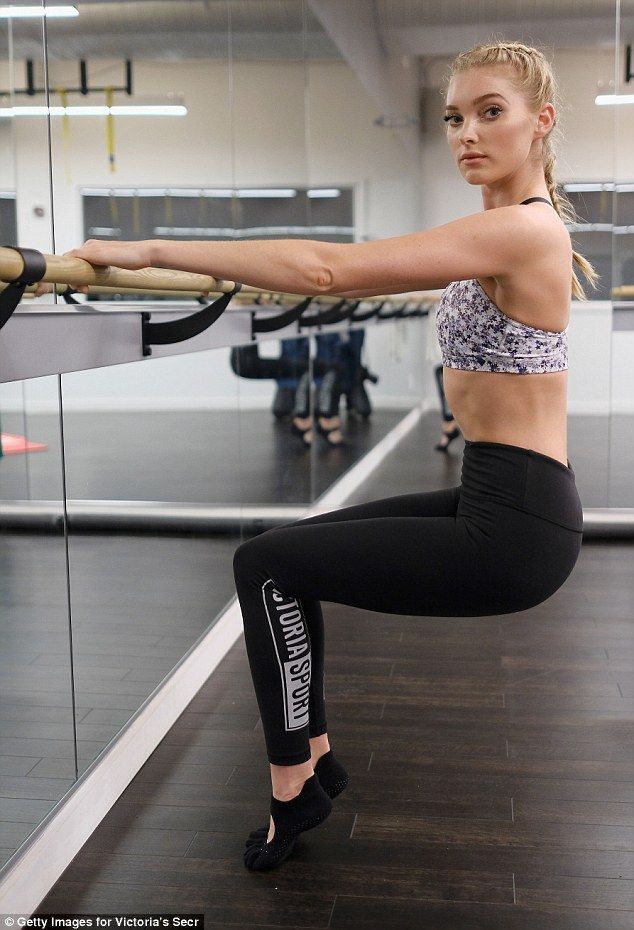 Getting toned: Elsa said the Pilates, barre, and TRX suspension training classes at Flex Studios really target the lower body and make you 'lean and strong'