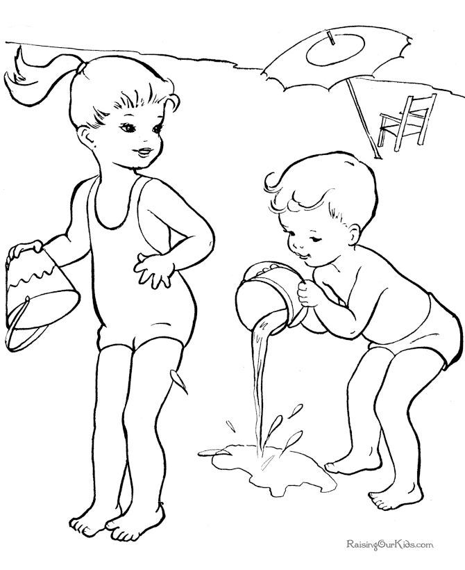 in the summer coloring pages you will find all the activities undertaken in the summer of course the kids holiday activities to enjoy the heat of the air