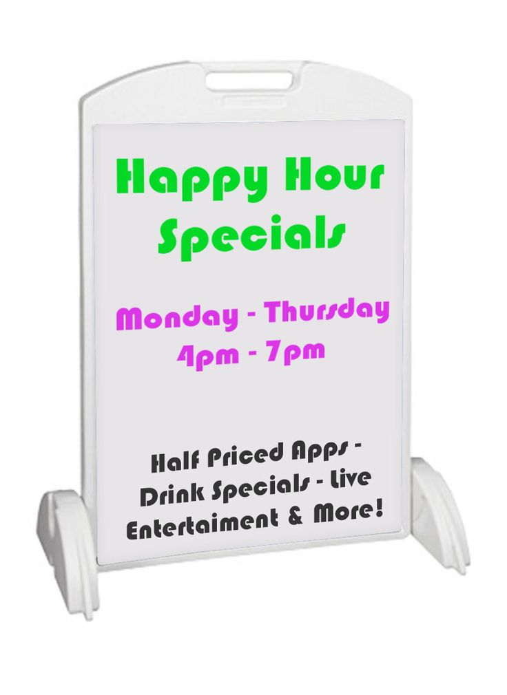 24 x 36 Sidewalk Sign with 2 Coroplast Sign Boards, Double Sided - White