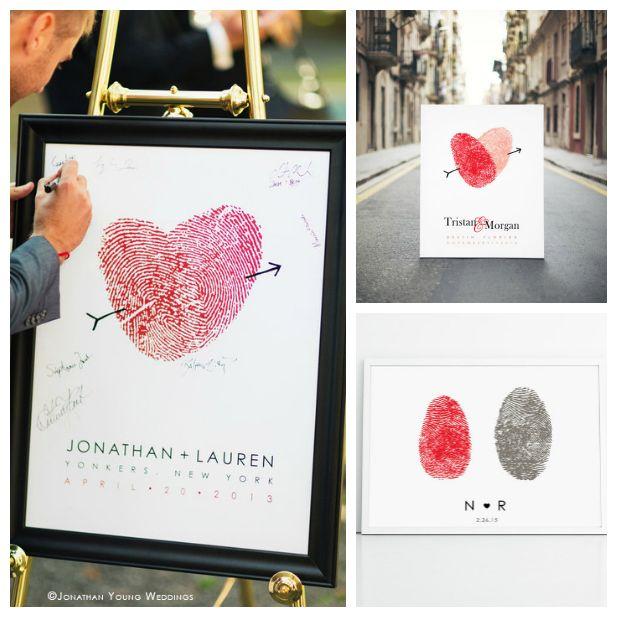 Win a Custom Fingerprint Wedding Poster from Flutterbye Prints